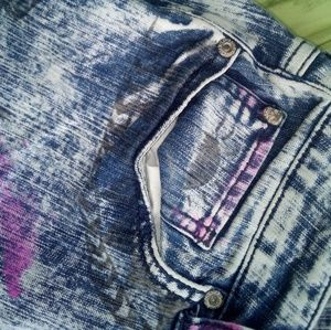 Lovesick Jeans - Customised acid wash skinny stretchy jeans size 13